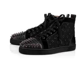 2018 <b>New Arrive</b> Studded Toe Black Suede Sneakers Red <b>Bottom</b> ...
