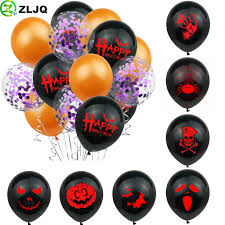 ZLJQ 15pcs Happy <b>Halloween</b> Balloons Party Decorations Spider ...