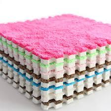 30CM Warm Plush Baby Play <b>Mat</b> 1cm Thickness Blue <b>Pink Color</b> ...