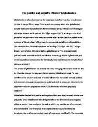 the positive and negative effects of globalization   a level  page  zoom in