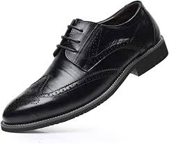 New <b>fashion Men's Casual</b> lace up <b>Stitching</b> wing tip oxford Brogue ...