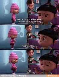 Cheeto - Despicable Me. **Agnes reminds me of my daughter Clover ... via Relatably.com