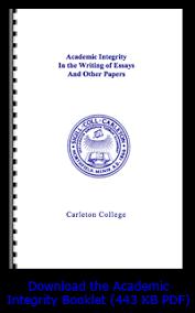academic integrity   carleton collegeacademic integrity at carleton