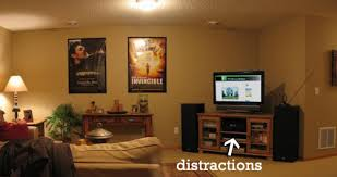 since my home office also happens to be in our home theaterentertainment room i have plenty of distractions available to me basement home office