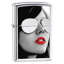 <b>Зажигалка ZIPPO Sunglasses</b> с покрытием <b>High</b> Polish Chrome ...