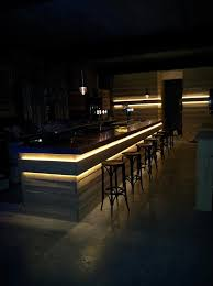 needs more light behind the bar i would still look for a warmer colour with the theme we are running with bar lighting design