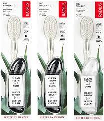 RADIUS <b>Original</b> Left Hand <b>Toothbrush</b>, <b>Soft</b> Bristles, Assorted ...