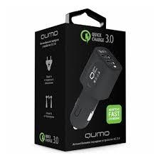 Автомобильное <b>зарядное устройство Qumo</b> Dual Quick Charge ...