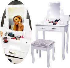 CCLIFE Dressing Table Set, <b>Modern Vanity Makeup Table</b> with ...