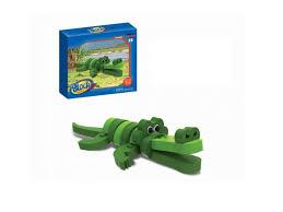 <b>Конструктор Block wild animal</b> мягкий, Крокодил, 15 деталей ...