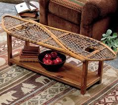cabin decor lodge sled: vintage snowshoe coffee table  vintage snowshoe coffee table