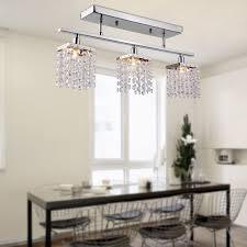 Linear Dining Room Lighting Lightinthebox Chandelier With 3 Lights In Crystal Flush Mount
