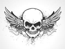 ᐈ Skull with wings stock pictures, Royalty Free <b>skull wing</b> drawings ...