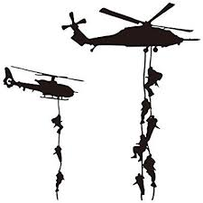 """Amazon.com: 22x22"""" <b>Helicopter Army Soldier Wall</b> Stickers PVC ..."""