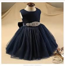 Glizt Diamond Belt Flower Girls Dresses For Weddings Royal Blue ...