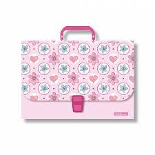<b>Портфель</b> пластиковый <b>ErichKrause</b>® <b>Pink</b> Flowers, A4 (в пакете ...