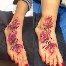 d: лучшие изображения (17) | Awesome tattoos, Flower foot tattoos ...