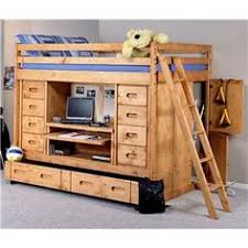 bunkhouse full rodeo loft bed with desk drawers and trundle bed by trendwood conlins bunk bed dresser desk
