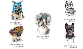 COSBILL 5 Pieces/ Lot <b>Cute</b> PUG <b>Dog Patches</b> Diy <b>Iron</b> On ...
