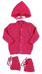 <b>New Born Baby</b> Woolen <b>Knitted Baby</b> Set (3Pcs <b>Suit</b>): Amazon.in: <b>Baby</b>
