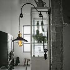 cheap industrial lighting pulley shaped adjustable wall sconce cheap wall sconce lighting
