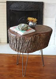 you guys we made a table from a slice of tree stump no joke we mentioned tackling a diy project we were pretty excited about weekend before last well awesome tree trunk table 1