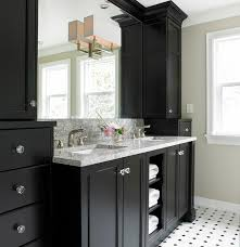 tudor house ensuite transitional bathroom black and white bathroom furniture