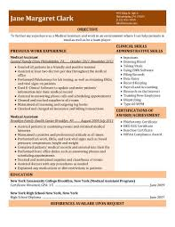 free medical assistant resume samples you can use nowexperienced medical assistant