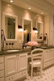 lighting for makeup table lights wall mount elegant cream white polished wood double sink cabinet vanity bathroom makeup lighting