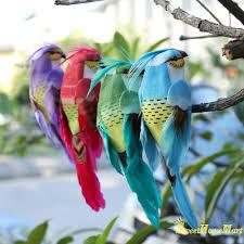 garden feature <b>2Pcs</b> Artificial Foam Feather Mini <b>Birds</b> Craft Home ...