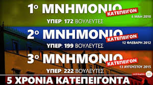 Αποτέλεσμα εικόνας για μιχελογιαννάκησ ποσα μνημονιο ψηφισε