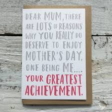 greatest achievement mother s day card by momo boo greatest achievement mother s day card