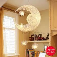 new novelty kid children room light lamp modern pendant lighting for bedroom moon star lights free children bedroom lighting