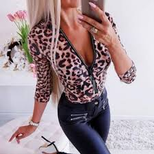 Fashion <b>casual V neck</b> leopard <b>shirt</b> – Basisstyle