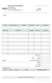 house rent receipt template service receipt form
