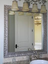 inpiration silver framed bathroom mirror brushed