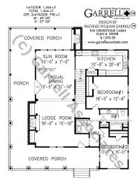 Creekstone Cabin House Plan   House Plans by Garrell Associates  Inc creekstone cabin house plan   st floor plan