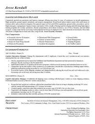 resume objective logistics manager   example good resume templateresume objective logistics manager