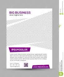 clean modern business flyer template in purple white design stock clean modern business flyer template in purple white design