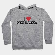 I <b>Love Heart</b> Nebraska Black Sweatshirt Active Sweatshirts