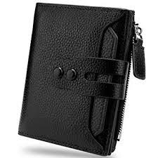 YALUXE <b>Women Genuine</b> Leather Card Wallet ID Window Zipper ...