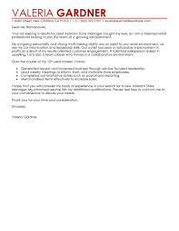 Unthinkable Retail Manager Cover Letter 15 Sample Management Cv