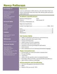 Call center or customer service resume template Pinterest