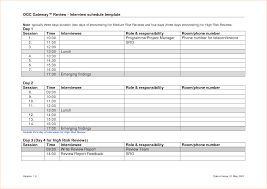 sample interview schedule template template sample interview schedule template