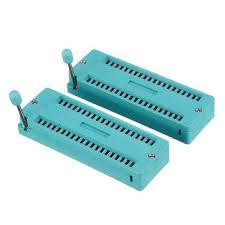 <b>6pcs ic lock seat</b> zif socket test universal zif sockets 40pin Sale ...