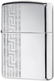 49170 <b>Зажигалка Zippo Greek</b> Pattern, High Polish Chrome