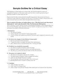 outline of essay examples of essay outlines format