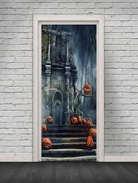 <b>Halloween Castle Pattern</b> Door Stickers