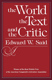 the world the text and the critic edward w said  the world the text and the critic edward w said 9780674961876 com books