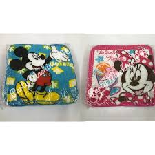 24pcs <b>Mickey</b> and Minnie Mouse Face Towel   Shopee Philippines